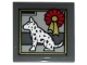 Part No: 11203pb044  Name: Tile, Modified 2 x 2 Inverted with Dalmatian Dog and Award Ribbon Pattern (Sticker) - Set 10263