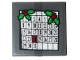 Part No: 11203pb045  Name: Tile, Modified 2 x 2 Inverted with December Calendar and 2 Holly Sprigs Pattern (Sticker) - Set 10263