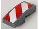 Part No: 11477pb004R  Name: Slope, Curved 2 x 1 with Red and White Danger Stripes (Red Corners) Pattern Model Right Side (Sticker) - Sets 60056 / 60152 / 60223