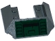 Part No: 13269pb002  Name: Slope 45 6 x 4 Double / 33 (Train Roof) with Air Intakes and Recess on Dark Green Background Pattern (Sticker) - Set 70735