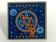 Part No: 15210pb008  Name: Road Sign 2 x 2 Square with Open O Clip with Blue and Orange Space Screen Pattern