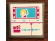 Part No: 15210pb054  Name: Road Sign Clip-on 2 x 2 Square Open O Clip with Woman on TV Screen Pattern (Sticker) - Set 41134