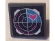 Part No: 15210pb057  Name: Road Sign 2 x 2 Square with Open O Clip with Radar and Pink Heart Pattern (Sticker) - Set 41333