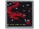 Part No: 15210pb063  Name: Road Sign 2 x 2 Square with Open O Clip with Video Game Display with Dark Red Ninja, Dragon and Pixels Pattern (Sticker) - Set 71712