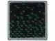 Part No: 15210pb066  Name: Road Sign 2 x 2 Square with Open O Clip with Dark Green Rhombuses on Black Background Pattern (Sticker) - Set 71712