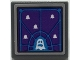 Part No: 15210pb107  Name: Road Sign 2 x 2 Square with Open O Clip with Dark Purple Screen with Dark Azure Grid, White Ghosts Pattern (Sticker) - Set 70424