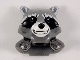 Part No: 17013pb04  Name: Minifigure, Head, Modified Raccoon with Pearl Dark Gray Shoulder Pads and Smile Pattern (Rocket)