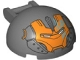 Part No: 18990pb04  Name: Windscreen 4 x 4 x 1 2/3 Canopy Half Sphere with Bar Handle and Orange Iron Man Face Pattern