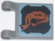 Part No: 2335pb059L  Name: Flag 2 x 2 Square with Copper Snake Head Pattern Facing Clips (Sticker) - Set 8823