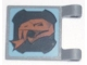 Part No: 2335pb059R  Name: Flag 2 x 2 Square with Copper Snake Head Pattern Facing Away From Clips (Sticker) - Set 8823