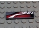 Part No: 2431px18  Name: Tile 1 x 4 with Sleek Silver, Red and Black Pattern Model Left Side