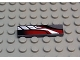 Part No: 2431px19  Name: Tile 1 x 4 with Sleek Silver, Red and Black Pattern Model Right Side