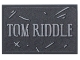 Part No: 26603pb044  Name: Tile 2 x 3 with 'TOM RIDDLE' Pattern (Sticker) - Set 75965