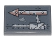 Part No: 26603pb140  Name: Tile 2 x 3 with Copper and Silver Arrow, Metal Plates, Seams, Rivets and Dirt Pattern (Sticker) - Set 70840