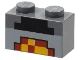 Part No: 3004pb162  Name: Brick 1 x 2 with Minecraft Pixelated Lit Forge Pattern