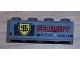 Part No: 3010pb085  Name: Brick 1 x 4 with 'SECURITY TRANSPORT' Pattern (Sticker) - Set 8199