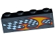 Part No: 3010pb185R  Name: Brick 1 x 4 with Checkered Flag and Flame Pattern Model Right Side (Sticker) - Set 8134