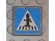 Part No: 30258pb016  Name: Road Sign Clip-on 2 x 2 Square with Crosswalk with Minifigure Pattern (Sticker) - Set 8401
