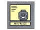 Part No: 30258pb048  Name: Road Sign Clip-on 2 x 2 Square with Black Lines on Yellow Background and 'Mr. Freeze' Portrait Pattern (Sticker) - Set 10937