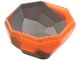 Part No: 30294pb01  Name: Rock Boulder, Bottom with Marbled Trans-Neon Orange Pattern
