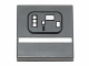 Part No: 3068bpb0849  Name: Tile 2 x 2 with Groove with White Stripe and Rectangles (SW Gonk Droid) Pattern
