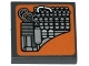 Part No: 3068bpb0904  Name: Tile 2 x 2 with Groove with SW Landspeeder Circuitry on Nougat Background Pattern (Sticker) - Set 75052
