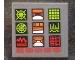Part No: 3068bpb1187  Name: Tile 2 x 2 with Groove with Computer Screen with 9 Icons and Red Buttons Pattern (Sticker) - Set 76023