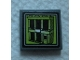 Part No: 3068bpb1327  Name: Tile 2 x 2 with Groove with Lime Video Screen with Jail Cell Building Pattern (Sticker) - Set 60139