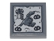 Part No: 3068bpb1513  Name: Tile 2 x 2 with Groove with Metal Plate with Rivets, Statue of Liberty, Building, and DUPLO Aliens Pattern (Sticker) - Set 70840