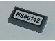 Part No: 3069bpb0753  Name: Tile 1 x 2 with Groove with 'HS60142' Pattern (Sticker) - Set 60142