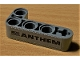 Part No: 32140pb13  Name: Technic, Liftarm, Modified Bent Thick L-Shape 2 x 4 with 'ANTHEM' and Black USA Flag Pattern (Sticker) - Set 42078