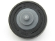 Part No: 3464c03  Name: Wheel & Tire Assembly Center Small with Stub Axles (Pulley Wheel) with Black Tire 14mm D. x 4mm Smooth Small Single with Number Molded on Side (3464 / 59895)