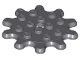 Part No: 35443  Name: Plate, Round 4 x 4 with 10 Gear Teeth / Flower Petals