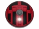 Part No: 3960pb061  Name: Dish 4 x 4 Inverted (Radar) with Solid Stud with Star Wars TIE Hatch Black and Red Pattern