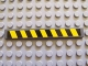 Part No: 4162pb013  Name: Tile 1 x 8 with Black and Yellow Danger Stripes Pattern (Sticker) - Set 7781