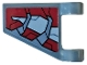 Part No: 44676pb044R  Name: Flag 2 x 2 Trapezoid with Dark Red and Light Bluish Gray Armor Plates Pattern Model Right Side (Sticker) - Set 76104