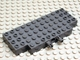 Part No: 45403c01  Name: Brick, Modified 5 x 12 with Two 1 x 2 Cutouts, 1 Hole and 2 Fixed Rotatable Friction Pins on Side