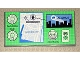 Part No: 48288pb05  Name: Tile 8 x 16 with Bottom Tubes on Edges with Batman Gotham City Map Display Pattern (Sticker) - Set 7783