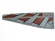 Part No: 50955pb010  Name: Wedge 10 x 3 Left with SW Sith Pattern (Stickers) - Set 7957