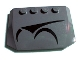 Part No: 52031pb006  Name: Wedge 4 x 6 x 2/3 Triple Curved with Magna Guard Symbols Left Pattern (Sticker) - Set 7673
