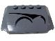 Part No: 52031pb007  Name: Wedge 4 x 6 x 2/3 Triple Curved with Magna Guard Symbols Right Pattern (Sticker) - Set 7673