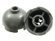 Part No: 553b  Name: Brick, Round 2 x 2 Dome Top - Blocked Open Stud with Bottom Axle Holder x Shape + Orientation