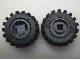 Part No: 6014bc01  Name: Wheel 11mm D. x 12mm, Hole Notched for Wheels Holder Pin with Black Tire Offset Tread Small Wide (6014b / 6015)