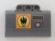 Part No: 61069pb003L  Name: Technic, Panel Engine Block Half / Side Intake with Agents Dr. Inferno Logo and 'DO NOT COVER' Pattern Model Left (Sticker) - Set 8634