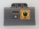 Part No: 61069pb003R  Name: Technic, Panel Engine Block Half / Side Intake with Agents Dr. Inferno Logo and 'DO NOT COVER' Pattern Model Right (Sticker) - Set 8634