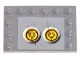 Part No: 6180pb007g  Name: Tile, Modified 4 x 6 with Studs on Edges with 2 Yellow Circles with Bionicle Code Pattern 7 (Sticker) - Set 8759