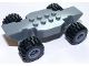 Part No: 85755c01  Name: Vehicle, Base Fast Food Racer 4 x 10 Lifted with Dark Bluish Gray Wheels and Black Tires