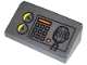 Part No: 85984pb019  Name: Slope 30 1 x 2 x 2/3 with Gauges, Buttons, Orange Bar and Radio on Transparent Background Pattern (Sticker) - Set 60001
