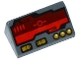 Part No: 85984pb077  Name: Slope 30 1 x 2 x 2/3 with Dark Red Horizon Screen and Gold Switches and Buttons Pattern