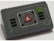Part No: 85984pb223  Name: Slope 30 1 x 2 x 2/3 with Red and Silver Caution Triangle on Bolted Plate, Black Vents and Lime Ooze Pattern (Sticker) - Set 70163